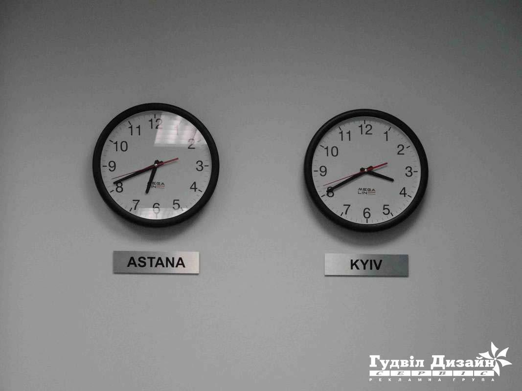 11.80 Таблички на металле под часы