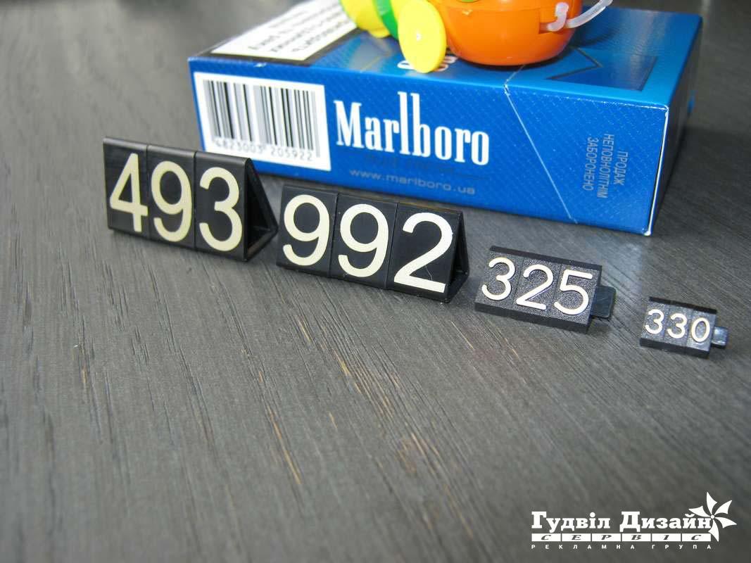 14.12 Пластикові набірні цінники