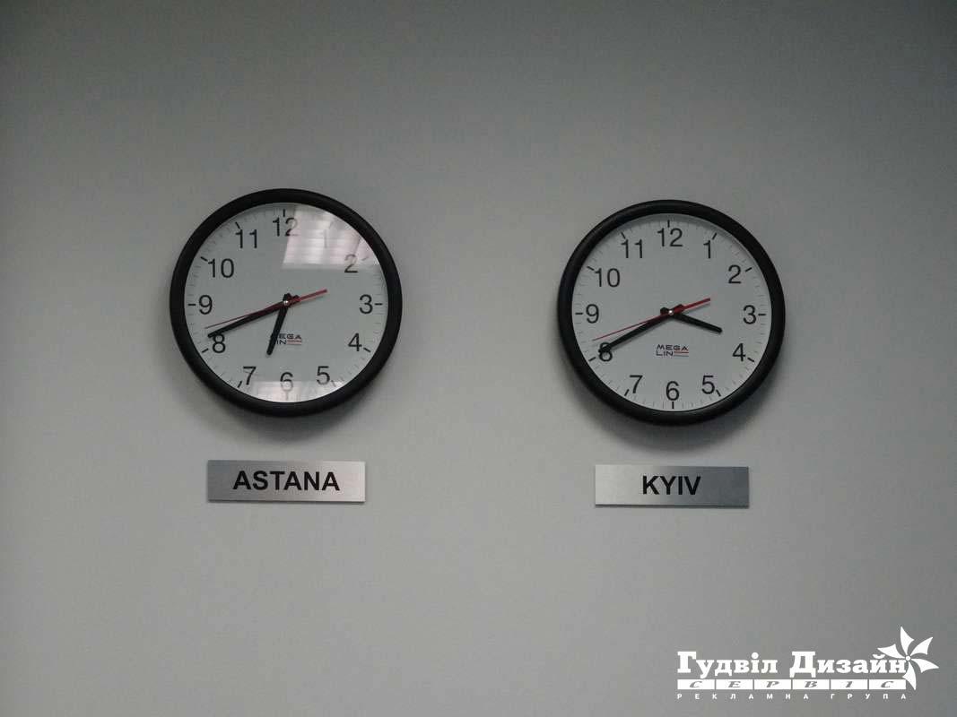 4.49 Таблички на металі під годинник