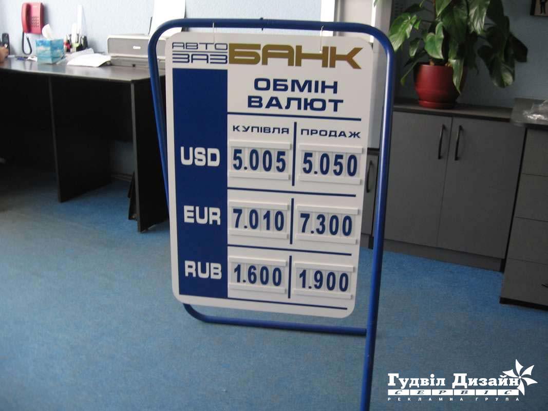 8.24 Виносний щит для обміну валют
