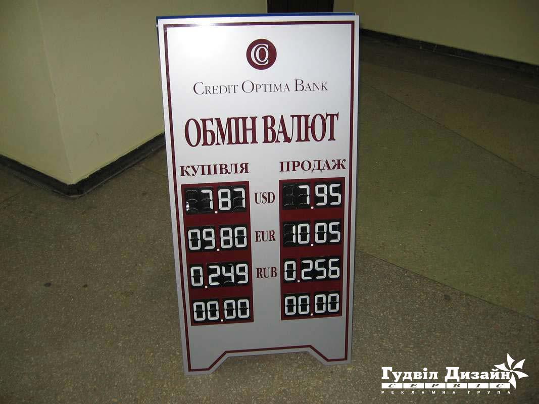 8.28 Виносне табло курсу валют з сегмент-цифрами