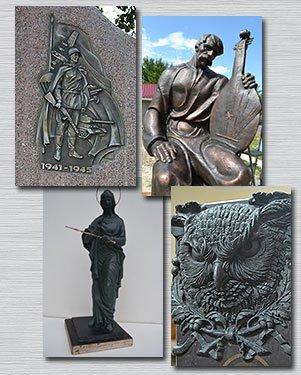 Памятник из бронзы