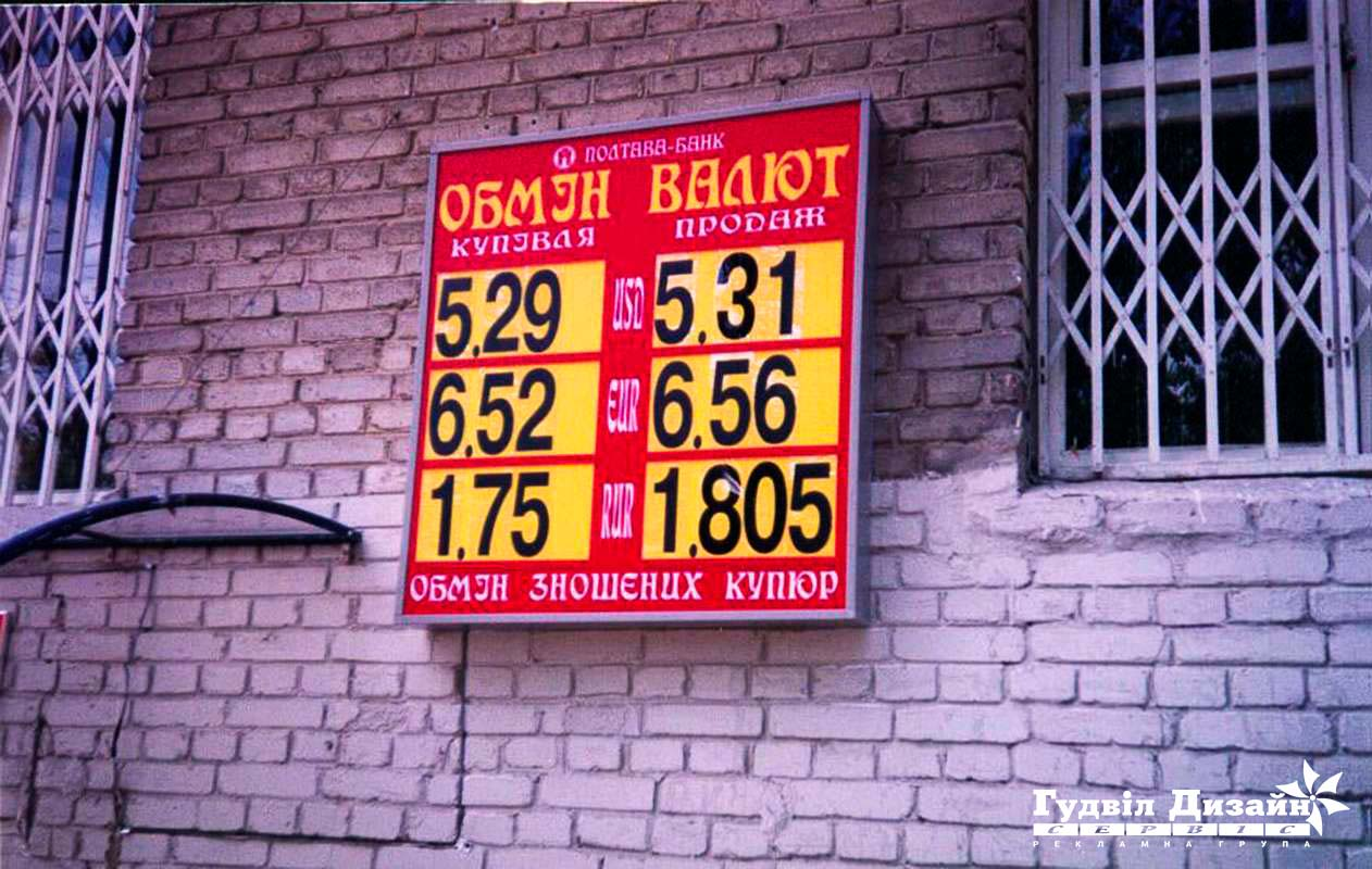 8.3 Табло курса обмена валют с внутренней подсветкой