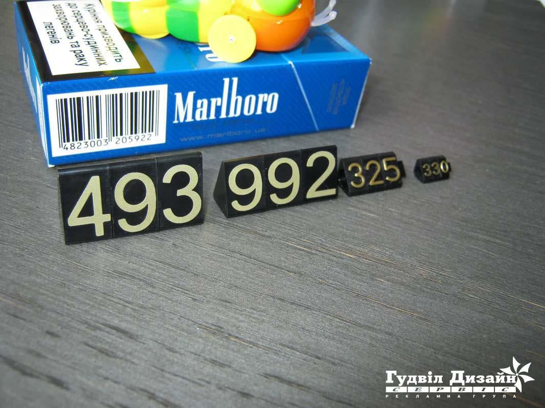 14.11 Цінники набірні пластикові (порівняння)
