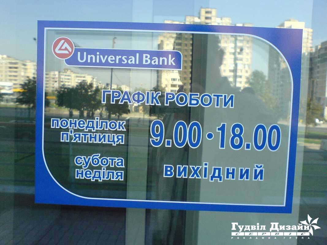 17.19 Оформлення вітрини - РЕЖИМ РОБОТИ