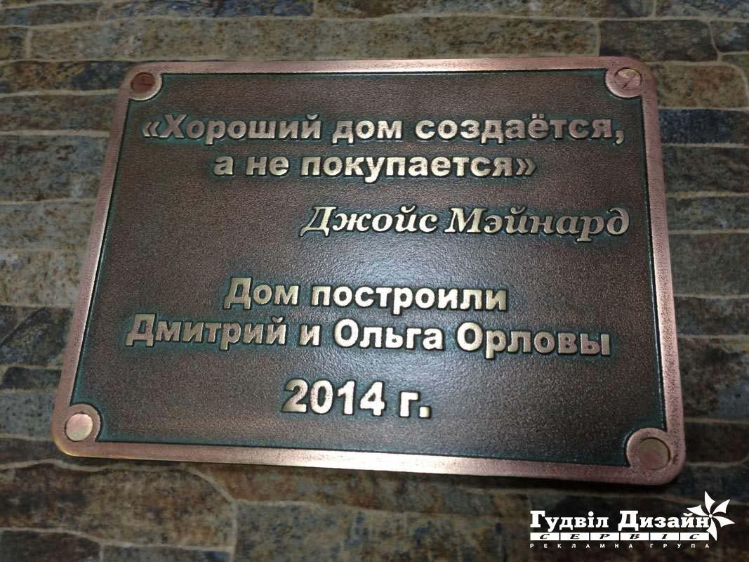 19.7 Бронзова табличка на пам'ятник архітектури