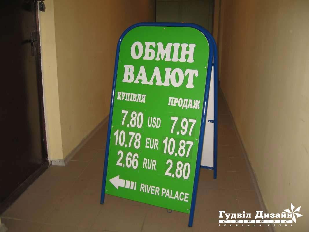 8.27 Виносне табло з курсом валют + Каса цифр