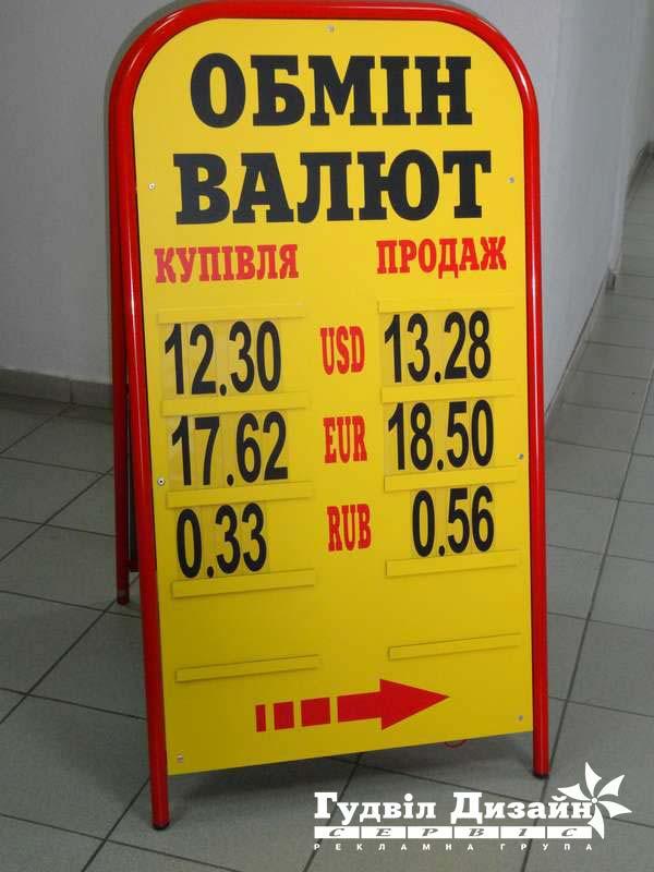 8.29 Виносний щит для пункту обміну валют