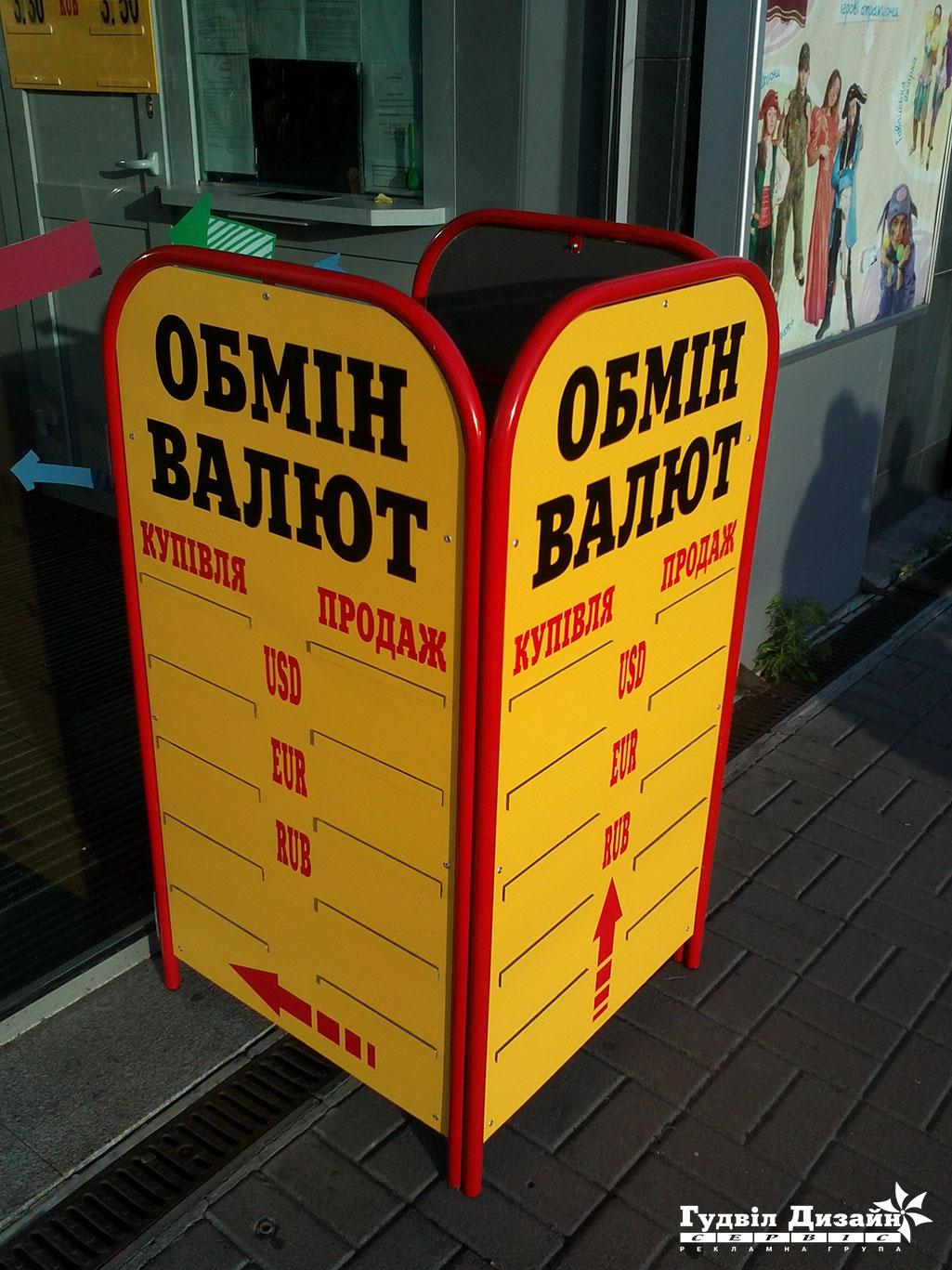 8.32 Щит-табло курса обмена валюты выносное