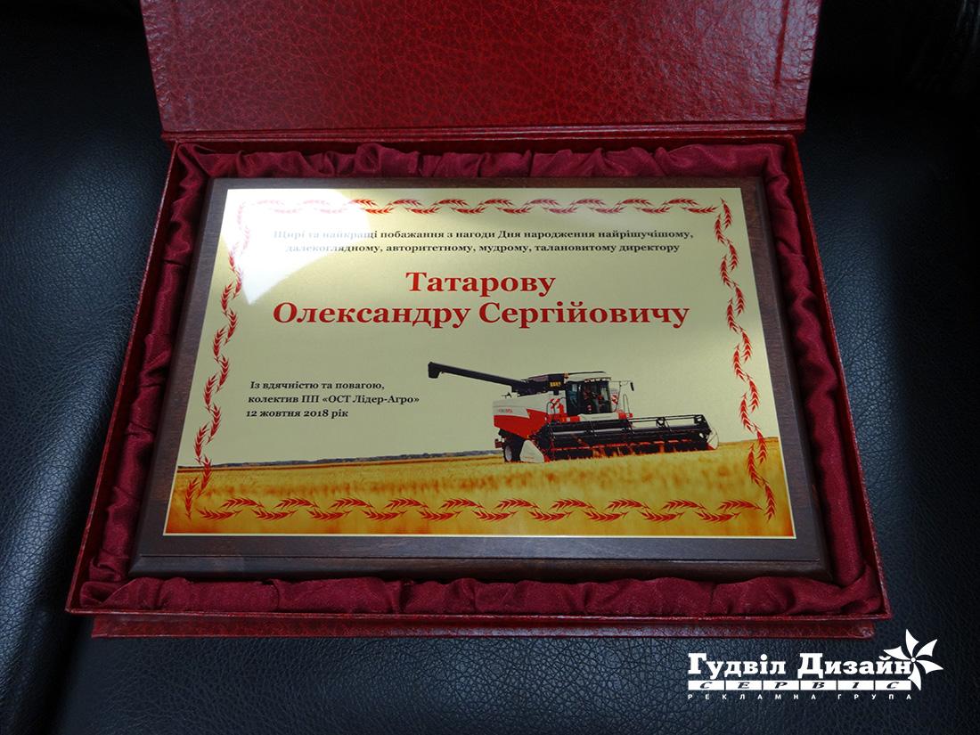 20.24 Диплом наградной в подарочном футляре